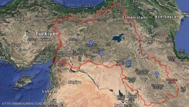 """صورة تركيا تخاطب غوغل لإزالة """"الخريطة المزعجة"""""""