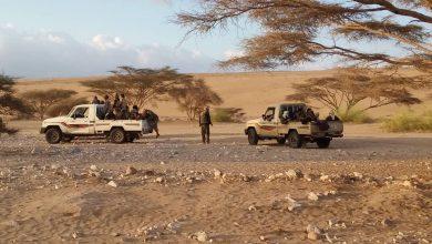 صورة الحزام الأمني بأبين يمشط عدد من المناطق الوعرة بحثا عن عناصر ارهابية