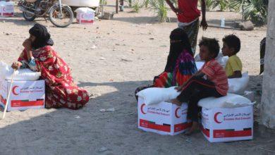 صورة هلال الإمارات يغطي احتياجات غذائية لـ25 قرية يمنية