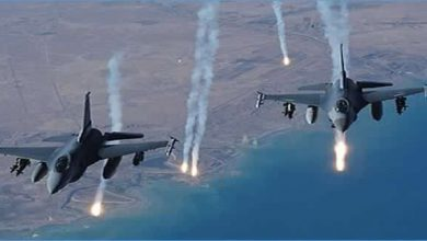 صورة عملية نوعية للتحالف على معسكرات ومخازن أسلحة الحوثي