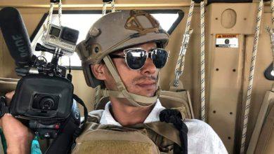 صورة ضابط في أمن عدن يعتدي على المصور نبيل القعيطي
