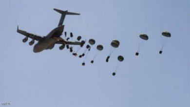 صورة حجة: التحالف العربي ينفذ سادس عملية إنزال جوي لقبائل حجور