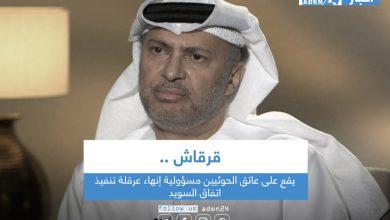 صورة قرقاش: يقع على عاتق الحوثيين مسؤولية إنهاء عرقلة تنفيذ اتفاق السويد