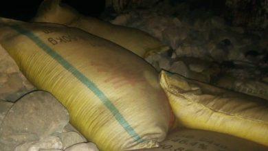 صورة اسمدة مهربة تقع في قبضة قوات الحزام الأمني لحج