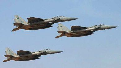 صورة مقاتلات التحالف تقصف قيادات حوثية في حجة