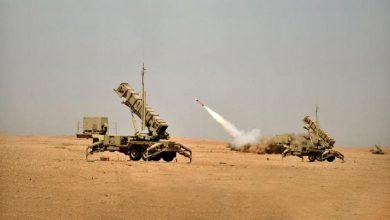 صورة اعتراض صواريخ حوثية باتجاه مكة وجدة