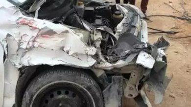 صورة وفاة داعية و زوجته في حادث مروري على طريق العبر