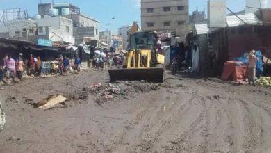 صورة لحج : ارتياح شعبي لحملة رفع مخلفات الأمطار في ردفان