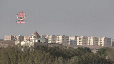 صورة قصف حوثي مكثف على مواقع العمالقة في الصالح بالحديدة