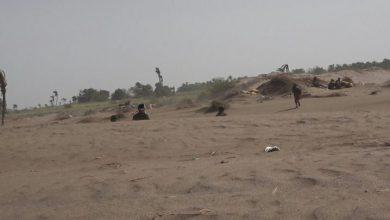 صورة ميليشيات الحوثي تواصل قصف مواقع العمالقة في منطقة الجبلية