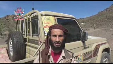 صورة قيادي في ألوية العمالقة : سوف نلاحق المليشيات وندحرها إلى جبال مران