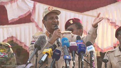 صورة حميدتي: نسعى لإقامة دولة القانون لبدء مرحلة جديدة في السودان