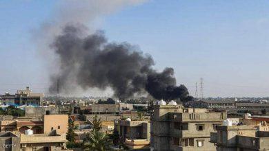 صورة الجيش الليبي يضرب قاعدة للميليشيات ويستعيد معسكرا في طرابلس
