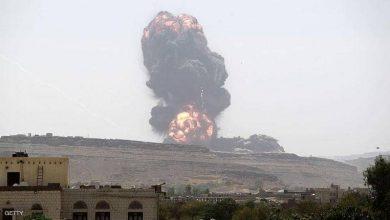 صورة مقاتلات التحالف العربي تقصف مواقع للحوثي في صنعاء