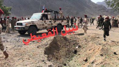صورة الكشف عن الموقع الذي اطلقت منه ميليشيات الحوثي الصاروخ نحومعسكر الجلاء بعدن