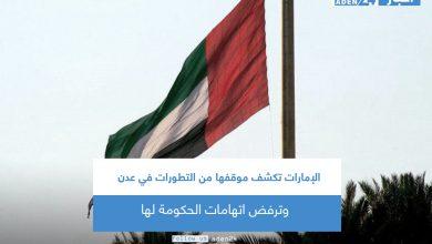 صورة الإمارات تكشف موقفها من التطورات في عدن وترفض اتهامات الحكومة لها