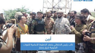 صورة نائب رئيس الانتقالي يتفقد الخطوط الأمامية للقوات الجنوبية شرق زنجبار في أبين