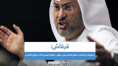 صورة قرقاش: استهداف الإمارات منطق العاجز وعلى هؤلاء معالجة قصور الذات وفشل التجارب