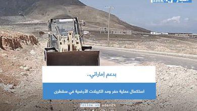صورة بدعم إماراتي.. استكمال عملية حفر ومد الكيبلات الأرضية في سقطرى