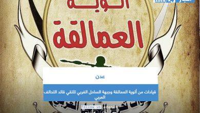 صورة قيادات من ألوية العمالقة وجبهة الساحل الغربي تلتقي قائد التحالف العربي بعدن