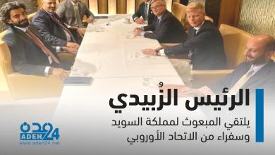 صورة انفوجرافيك | الرئيس الزُبيدي..يلتقي المبعوث لمملكة السويد وسفراء من الاتحاد الأوروبي