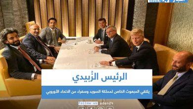 صورة الرئيس الزُبيدي يلتقي المبعوث الخاص لمملكة السويد وسفراء من الاتحاد الأوروبي