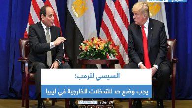 صورة السيسي لترمب: يجب وضع حد للتدخلات الخارجية في ليبيا