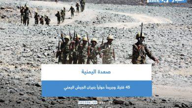 صورة 45 قتيلاً وجريحاً حوثياً بنيران الجيش اليمني في صعدة