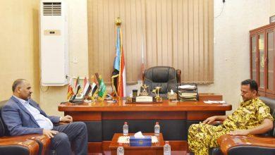صورة الرئيس الزُبيدي يشدد على أهمية توفير الحماية الأمنية اللازمة للمنظمات الإنسانية العاملة بالضالع
