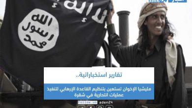 صورة تقارير استخباراتية.. مليشيا الإخوان تستعين بتنظيم القاعدة الإرهابي لتنفيذ عمليات انتحارية في شقرة