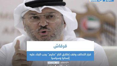 """صورة قرقاش: قرار التحالف وقف إطلاق النار """"حكيم"""" يجب البناء عليه إنسانيا وسياسيا"""