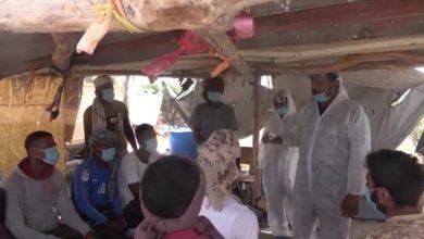 صورة للوقاية من فيروس كورونا.. العمالقة تنفذ حملة التوعية والرش الوقائي في كيلو 16 بالحديدة اليمنية