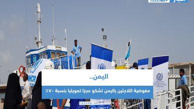 صورة مفوضية اللاجئين باليمن تشكو عجزا تمويليا بنسبة 70%