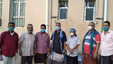 صورة انتقالي #لحج يقدم مستلزمات طبية لمركز العزل الصحي بمستشفى ابن خلدون
