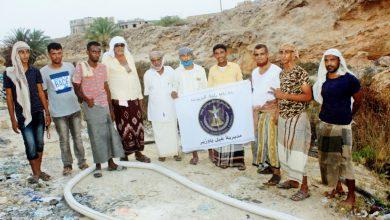 صورة انتقالي غيل باوزير يدشن المرحلة الثانية من عملية شفط المياه الراكدة بالمديرية