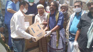 صورة انتقالي ردفان يتسلم مساعدات طبية من شركة العزاني للمقاولات لتوزيعها على المستشفيات