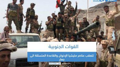صورة القوات الجنوبية تتعقب عناصر مليشيا الإخوان والقاعدة المتسللة الى جعار