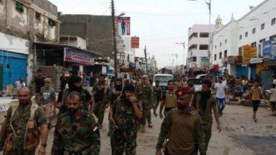 صورة الأجهزة الأمنية في العاصمةعدن تنفذ حملة واسعة لإزالة المخالفات من شوارع مديرية الشيخ عثمان