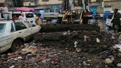 صورة اشادة شعبية بسرعة تحرك الإدارة الذاتية للجنوب لإزالة مخلفات السيول التي شهدتها العاصمة عدن فجر اليوم