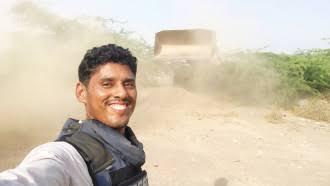 صورة الشيخ عبدالرب النقيب ينعي استشهاد المصور العالمي الجنوبي نبيل القعيطي