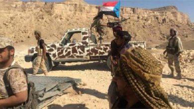 صورة شبوة.. القوات الجنوبية تستهدف مواقع تمركز مليشيا الإخوان الإرهابية بمنطقة العرم بحبان