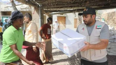 صورة خليفة الانسانية تغيث 407 أسرة في مدينة حديبو بسقطرى (صور)