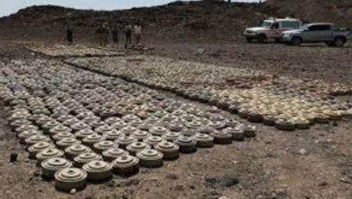 صورة مسام يعلن نزع 1186 لغماً وذخائر حوثية خلال أسبوع في اليمن