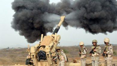 صورة صعدة.. القوات السعودية تقصف تحركات مليشيا الحوثي في رازح