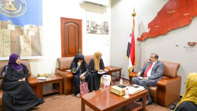 صورة اللواء بن بريك يلتقي رئيسة اللجنة التحضيرية للاتحاد العام للمرأة الجنوبية