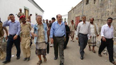 صورة لجنة متابعة أوضاع السجون تزور سجن الصولبان وعدداً من أقسام الشرط بالعاصمة عدن