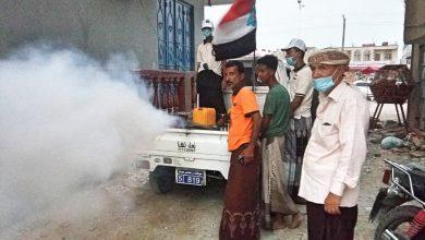 صورة انتقالي الشحر يواصل تنفيذ المرحلة الثالثة من الحملة الوقائية لمجابهة الحميات والأمراض الفيروسية