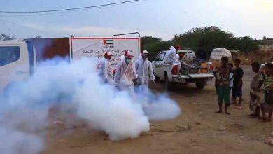 صورة «الهلال الإماراتي» يدشّن حملة تعقيم في المخا