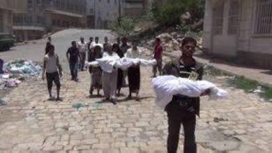 صورة قناصة الحوثي تقتل وتصيب 366 طفلاً في تعز خلال خمس سنوات