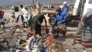 صورة بمشاركة الانتقالي.. تدشين حملة نظافة واسعة في مديرية قلنسية استعدادا للموسم السياحي